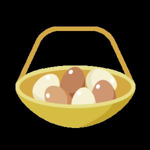 資産運用の目的やメリット・デメリット、投資商品の種類、投資の基本をわかりやすく紹介。カゴにもられた卵