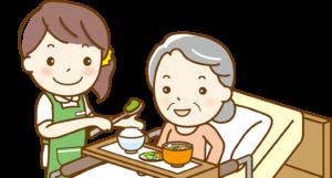 介護保険 食事介助するホームヘルパー