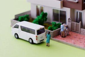 介護保険 車いすの利用者を送迎